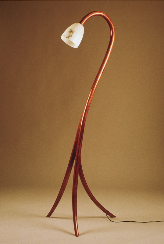 Koa bentwood laminated lamp