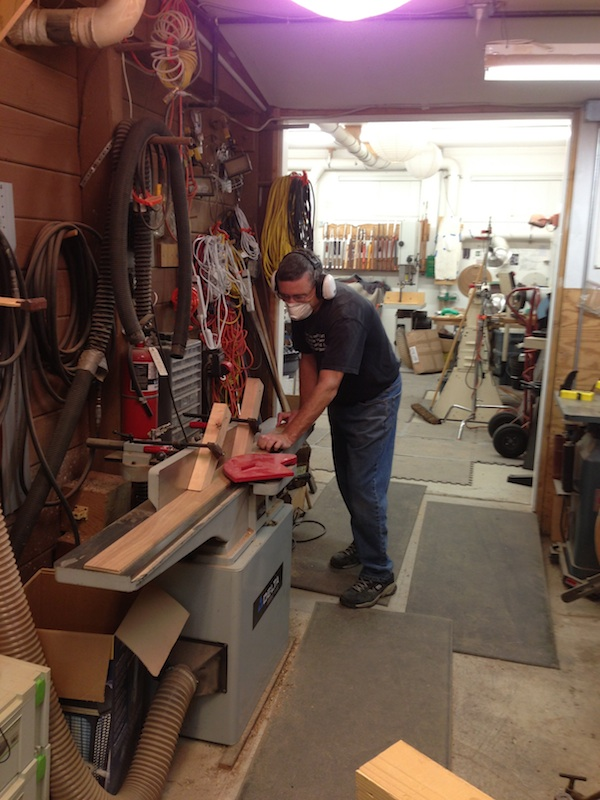 flattening wood on the jointer