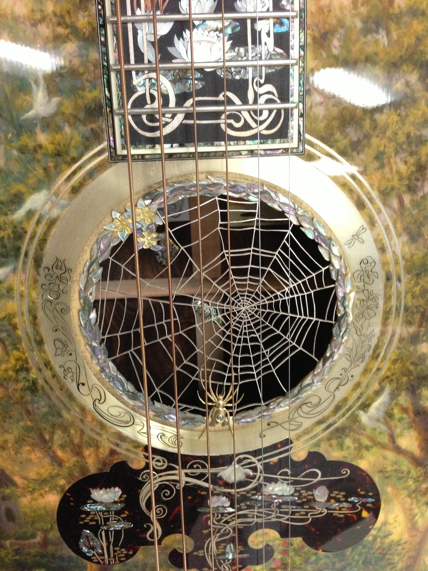 close up of Nouveau Guitar