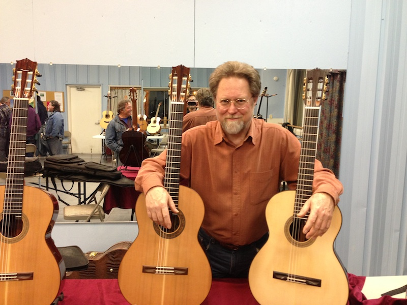 Richard and his guitars
