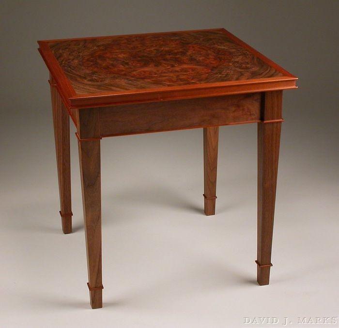 WoodWorks episode 206 Burl Veneer Occasional Table