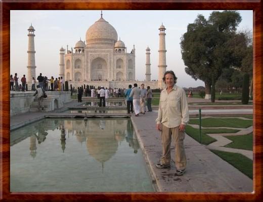 001 David on the walkway to the Taj Mahal