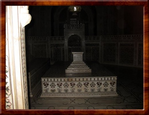 007 A look inside the Mausoleum at some of the stone inlay work