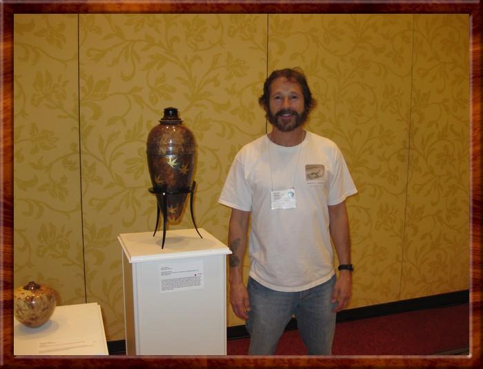 David next to Alchemist's Vessel in Maple Medley show