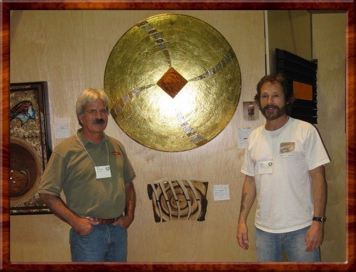 Ellis Walentine (Wood Central) & David in front of Gold Fusi