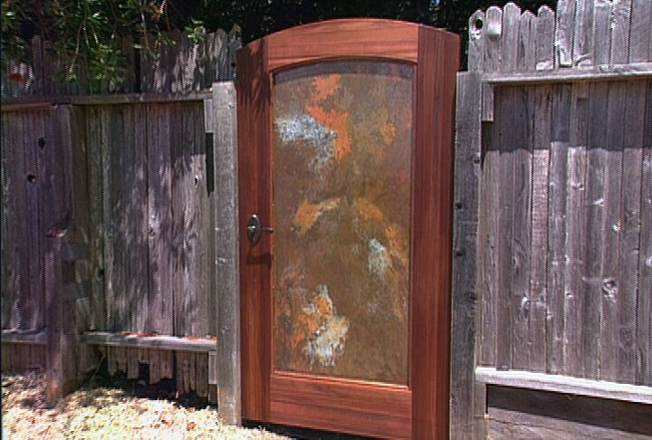 607 GARDEN GATE WITH COPPER PANEL