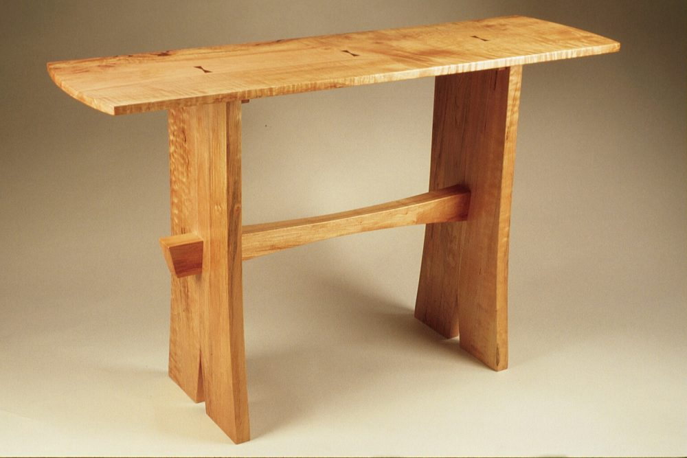 704 Asian Inspired Trestle Table