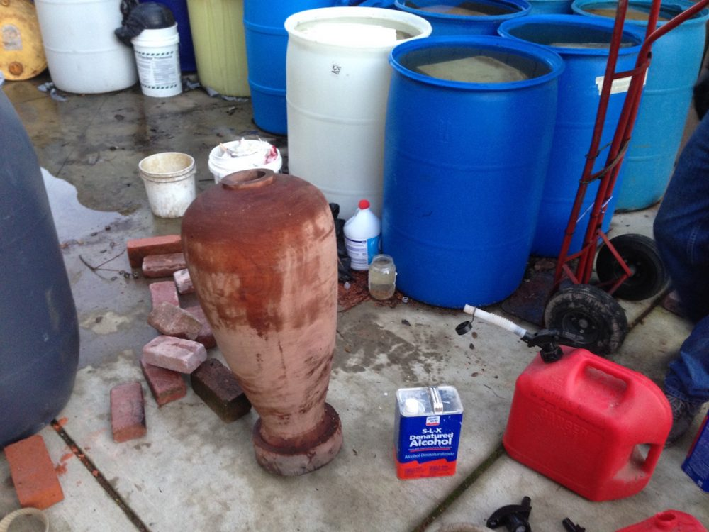 I soaked the vessel in denatured alcohol for 3 days
